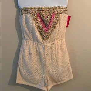 Brand new , never worn , natural romper
